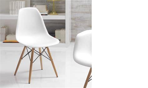 chaise blanche et bois chaise blanche et bois clair moderne xanda lot de 4