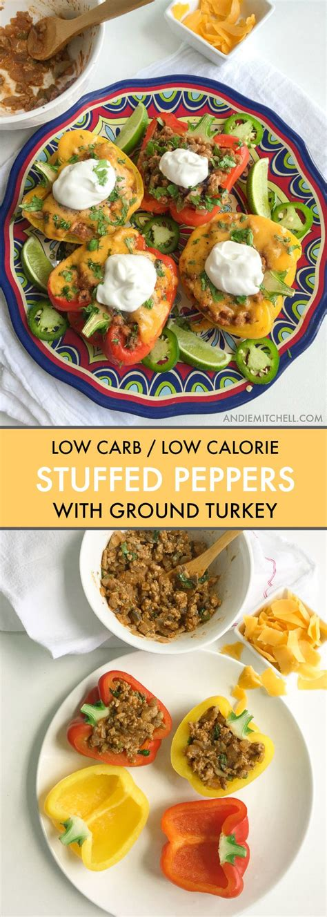 Created by our test kitchen, it cooks in one skillet, so it's a snap to clean up for a weeknight supper. Veggie Loaded Mexican Stuffed Peppers with Ground Turkey | Recipe (With images) | Stuffed ...