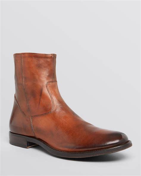 Men Zip Boots Tsaa Heel