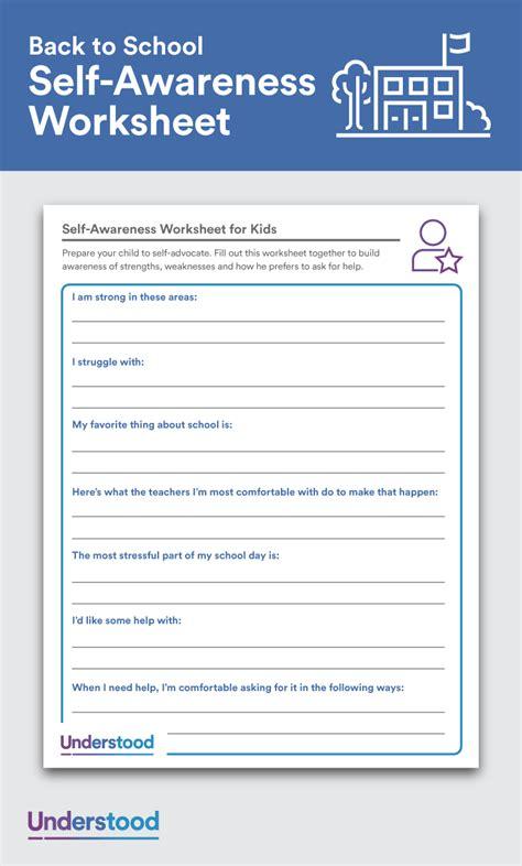 awareness worksheets  kids