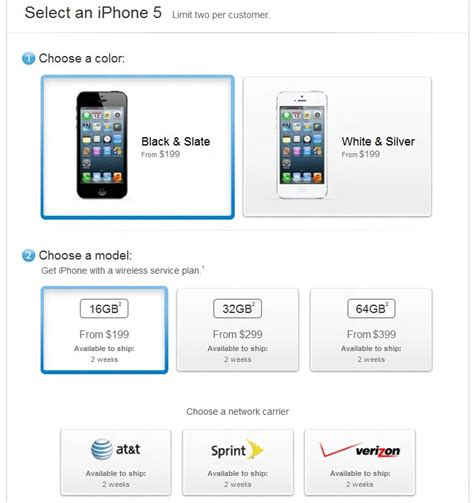 sprint iphone pre order apple iphone 5 pre order button is now live for at t