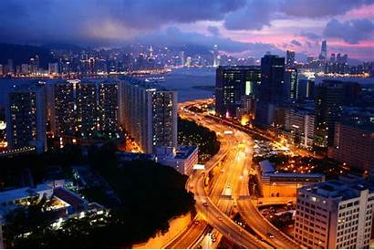 Night Aerial During Urbanization