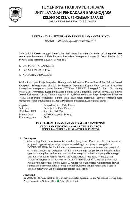 Permintaan Jasa by Berita Acara