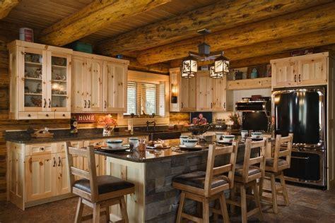 log home kitchen islands best 25 log cabin kitchens ideas on log home 7156