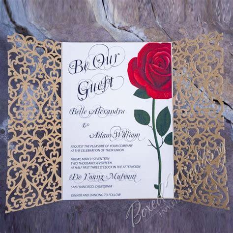 beauty   beast inspired invitation