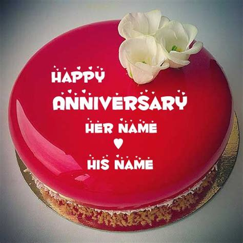 happy anniversary mirror glass cake  couple