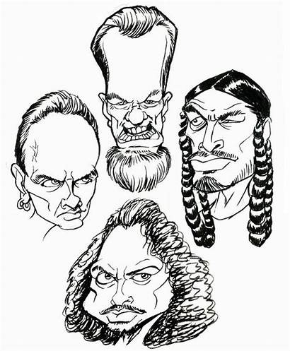 Metallica Coloring Cartoon Adult Rock Network Deviantart