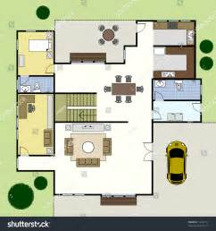 house plan layouts ground floor plan floorplan house home stock vector 74222734