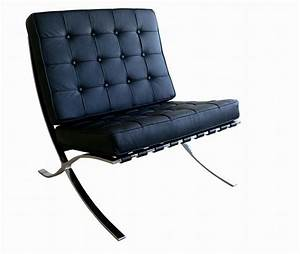 Exposition famous design black leather chair los angeles for Stylish famous chair