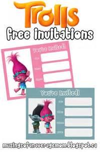 Free Troll Printable Birthday Invitations
