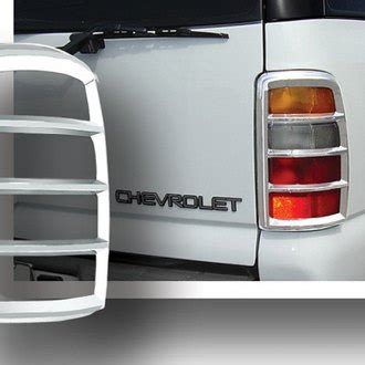 2002 chevy tahoe tail lights 2002 chevy tahoe chrome tail light bezels covers carid com