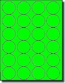 fluorescent neon green laser printable labels