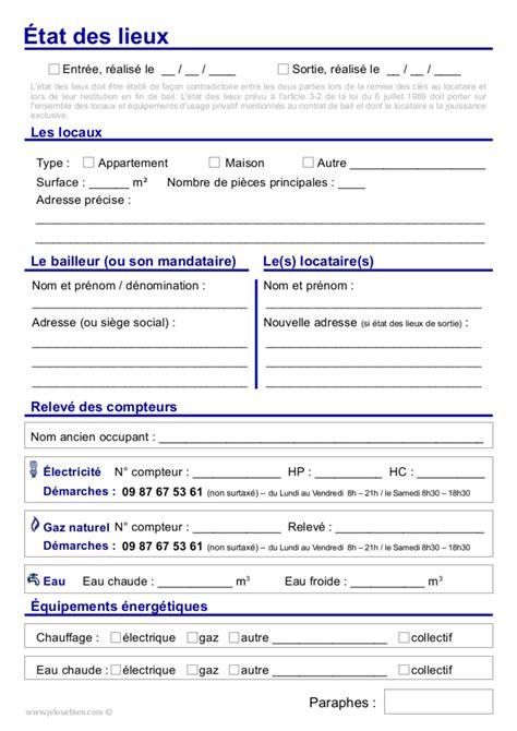 modele etat des lieux gratuit meuble document online