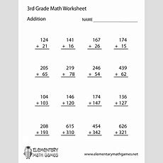 Learn And Practice Addition With This Printable 3rd Grade Elementary Math Worksheet Third