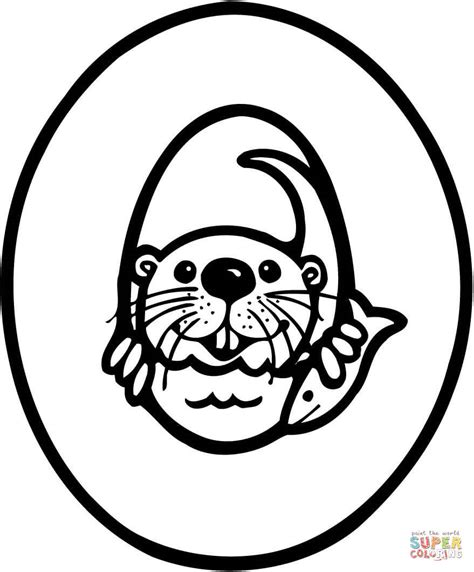 Otter Kleurplaat by O Is For Otter Coloring Page Coloring Home