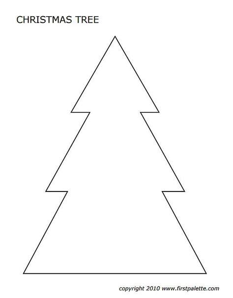 christmas tree templates   shapes  sizes