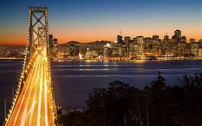 Francisco San Night Wallpapers Usa Sf Bridge