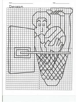 quadrant coordinate graph mystery picture deveon