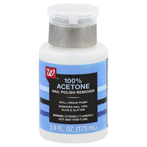 Walgreens Beauty Nail Polish Remover Pump 100% Acetone