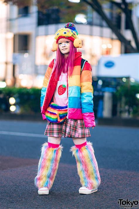 harajuku rainbow kawaii streetwear style  teenstyle puffer jacket wc question mark tmnt