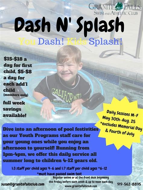 dash n splash 2k17 granite falls swim athletic club