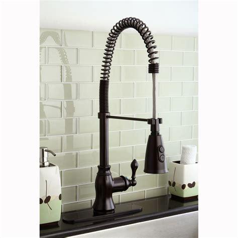spiral kitchen faucet modern rubbed bronze spiral pull
