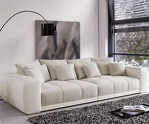 Big Sofa 250 Cm : big sofa valeska 310x135 cm grau cremeweiss beige 12 kissen m bel sofas big sofas ~ Bigdaddyawards.com Haus und Dekorationen