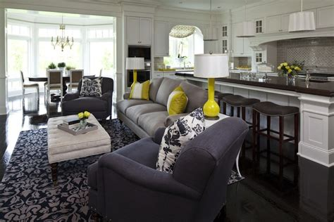 Gray Living Room Blue Kitchen by Blue And Gray Living Room Contemporary Living Room