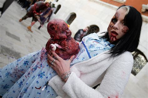 zombies zombie baby carnival venice kicks invade