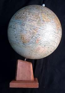 Globe Terrestre En Bois : beau globe terrestre ancien girard barrere ann es 50 mont sur un p ed bois ~ Teatrodelosmanantiales.com Idées de Décoration