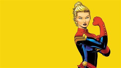 Minimalistic Captain Marvel Simple Background Wallpaper