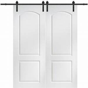 milliken millwork 60 in x 84 in continental molded solid With 60 inch barn door hardware