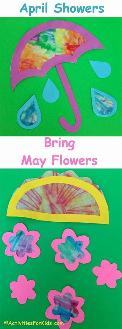 April Crafts Showers Flowers Bring Preschool Craft