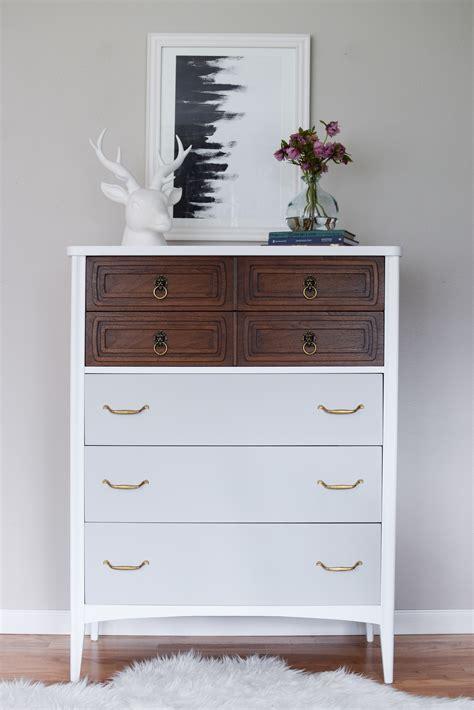 white modern dresser and modern mid century dresser in white wood grey