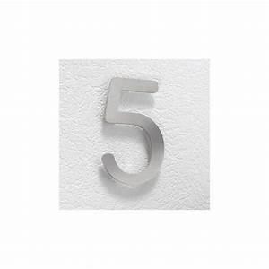Plaque Numero Maison Design : plaque num ro de maison 16 cm inox bross 4mepro ~ Melissatoandfro.com Idées de Décoration