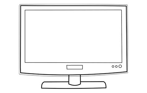 Coloring Page Television