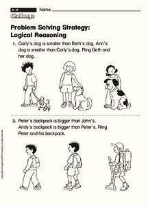 Problem Solving Strategy  Logical Reasoning Worksheet For 1st