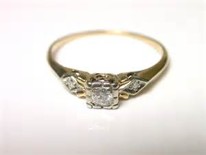 gold engagement rings vintage yellow engagement ring vintage hd ring diamantbilds