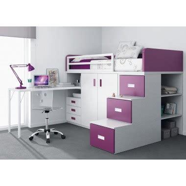 lit mezzanine bureau armoire lit superposé avec tiroirs bureau armoire et