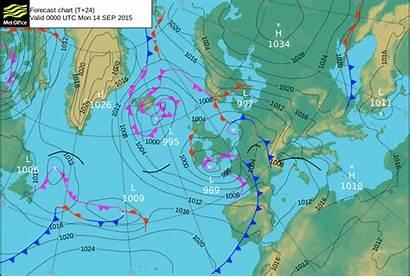 Forecast Storm Rain Pressure Warm Winds Surface