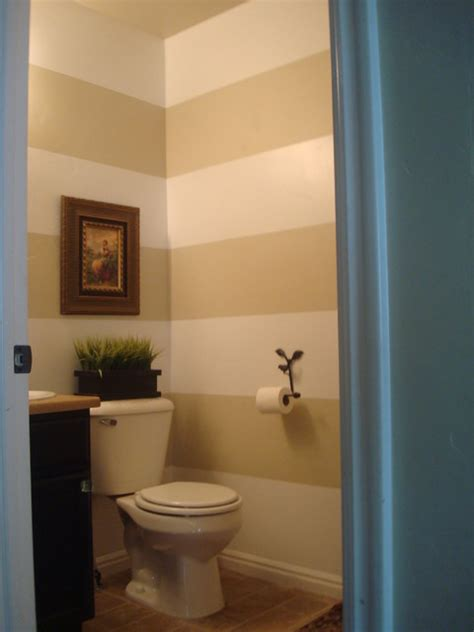 small half bathroom paint ideas horizontal stripes