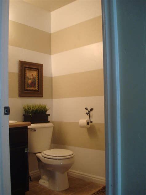 half bathroom paint ideas horizontal stripes