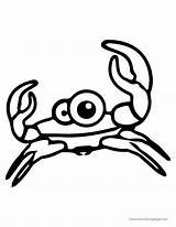 Crab Coloring Cartoon Sweety Cuttle Animal Pretty sketch template