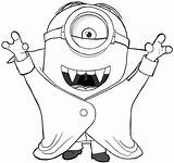Coloring Vampire Pages Minion sketch template