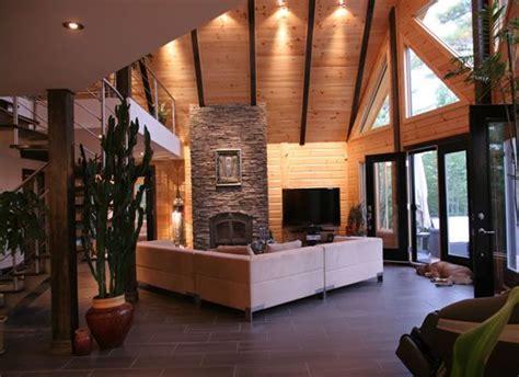Log Cabin Style Meets Ethnic Modern Interior Design by Modern Interior Contemporary Design Meets Stunning Log