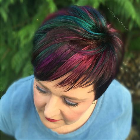 Hairstyles And Cuts by Pixie Cut With Slick Inspired Colors By Pulp Riot My