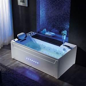Prix Baignoire Balneo : baignoire rectangulaire baln o blanche baignoire 180x100 ~ Edinachiropracticcenter.com Idées de Décoration