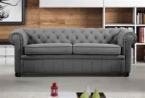 Sofa Chesterfield Style : modern chesterfield style sofa dark grey fabric ~ Watch28wear.com Haus und Dekorationen