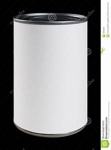 White Can Label With Clipping Path Stock Photo - Image ...