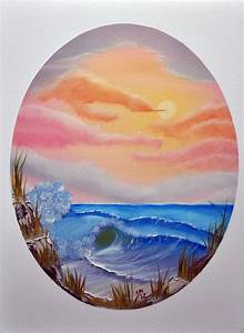 Pastel Seascape in an Oval